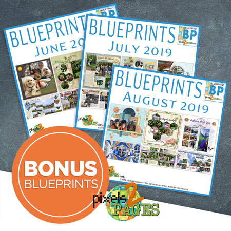 Join pixels2Pages with a New Yearly Membership & receive three months of BONUS Blueprints!