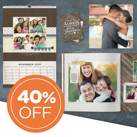 Save 40% on all printed products!