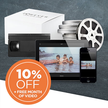 Return your box to save 10% on all film & video conversion and get first month of Monthly Premium Video Plan FREE!