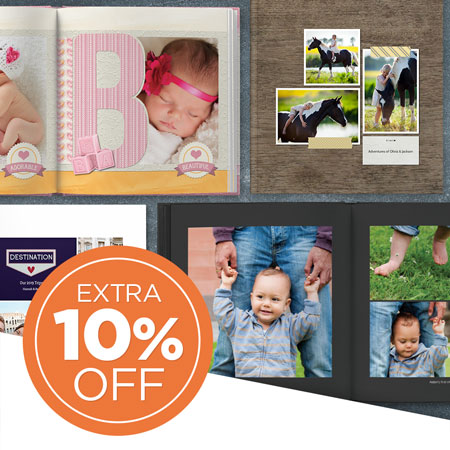 PLUS, save an EXTRA 10% on Photo Books!