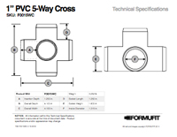 1 in. 5-Way Cross TSD
