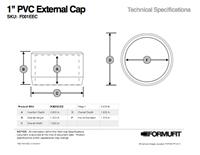 1 in. External Flat Cap TSD