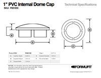 1/2 in. External Flat Cap TSD