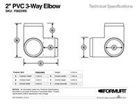 2 in. 3-Way Elbow TSD