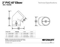 1-1/2 in. 45 Degree Elbow TSD