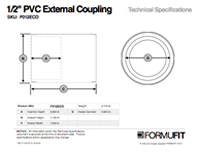 1/2 in. External Coupling TSD
