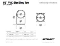 1/2 in. Slip Sling Tee TSD