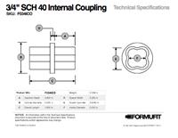 3/4 in. Internal Coupling TSD