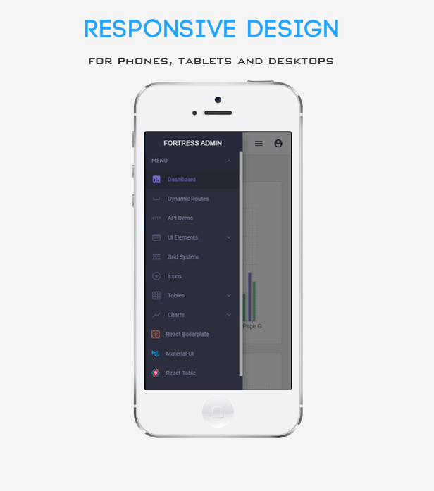 Fortress React Fully Responsive