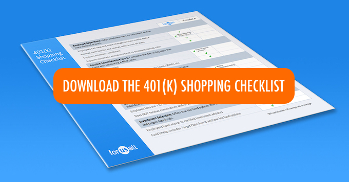 401(k) shopping checklist