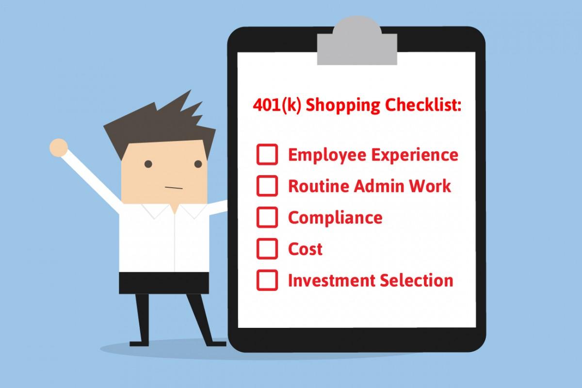401k shopping checklist