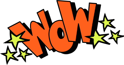 Wow Face Clip Art Wow text with starsWow Face Clip Art