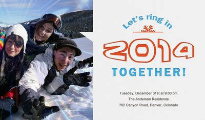 New Year's Together Invite