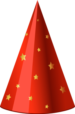 Red Party Hat with Yellow Stars - Free Clip Arts Online | Fotor Photo ...: www.fotor.com/features/cliparts/red-party-hat-with-yellow-stars...