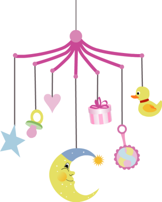Baby mobile with different hanging shapes free clip arts for Baby shapes mobile