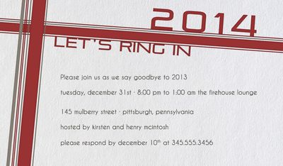 Ring in 2014 Invitation