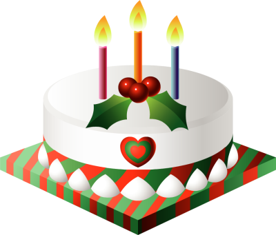Christmas Cake with Candles - Free Clip Arts Online ...