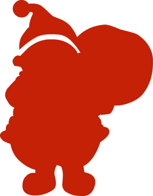 Santa claus silhouette png - photo#8