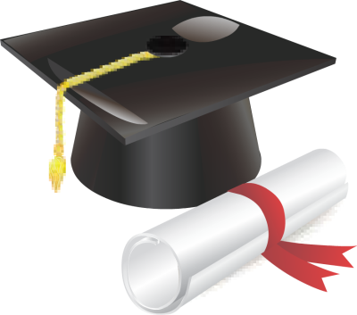 Graduation Cap and Diploma with Red Ribbon - Free Clip Arts Online ...