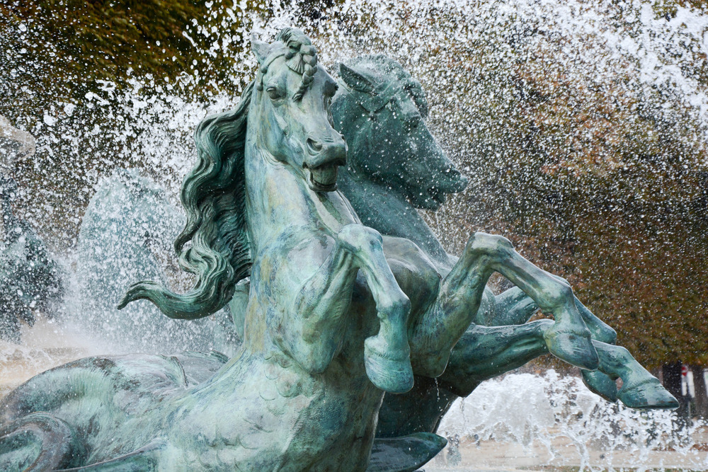 Horse water fountain