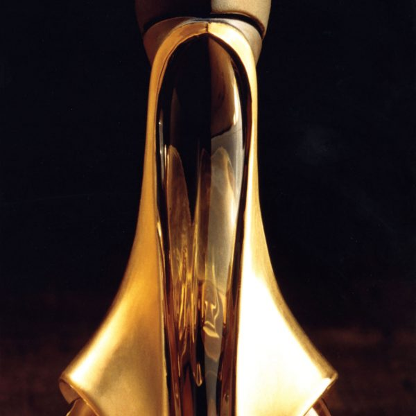 The art of beauty: Stephan designed an iconic trio of perfume bottles inspired by the curve of a woman's back