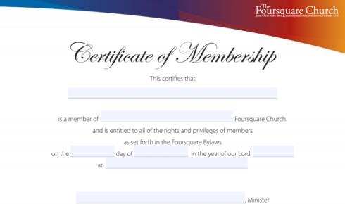 Certificates Applications Local Church Membership
