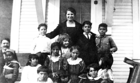 What I know about Aimee - Aimee with Children at parsonage