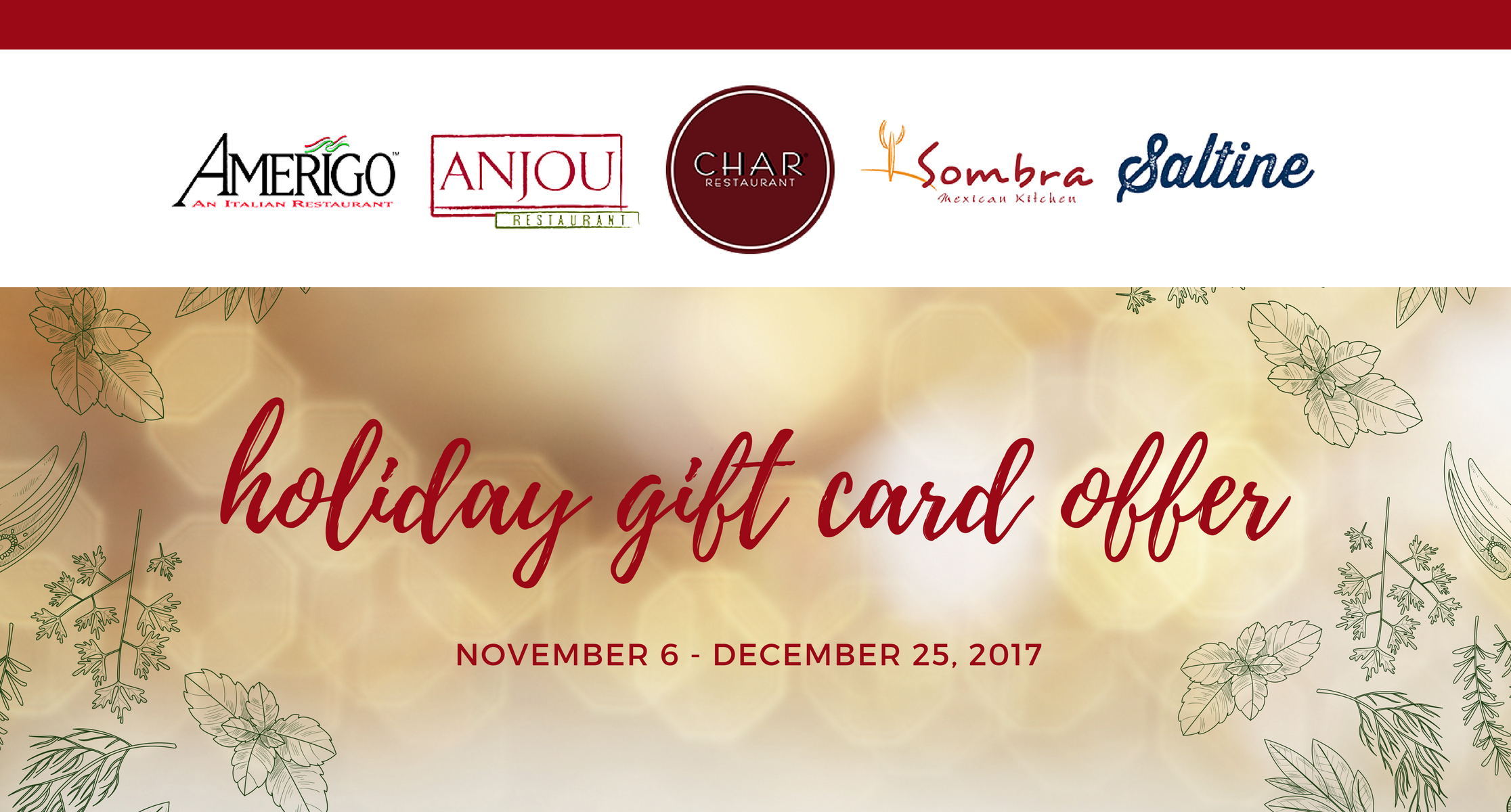 holiday offers archives amerigo italian restaurant - Holiday Gift Card Promotions 2017