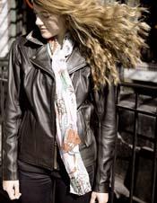 Chloe loves her Fox Creek Leather jacket