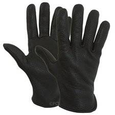Black Cascadia Deerskin Gloves