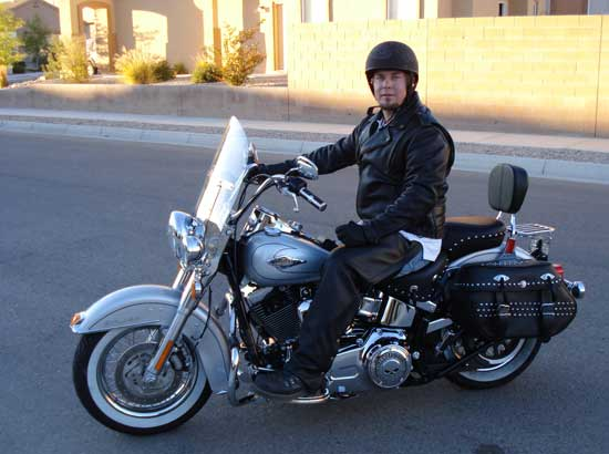 Matt on his 2010 Heritage Softail