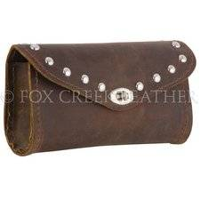 Brown Studded Windshield Bag