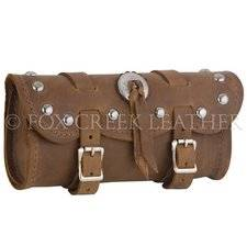 Small Brown Studded Concho Tool Bag
