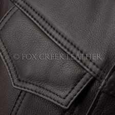 Leather close up detail