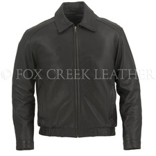 Fox Creek Leather Flight Jacket on Sale