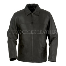 Leather Zip Up Car Coat