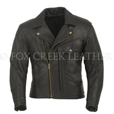Fox Creek Leather Men's Commander Motorcycle Jacket