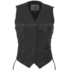 Fox Creek Leather Women's Laced Motorcycle Vest