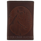 Leather Horse Tri-fold Wallet