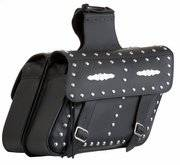 Studded Large Slant Saddlebags