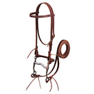 Latigo Leather Browband Bridle Set