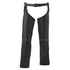 Beltless Leather Motorcycle Chaps