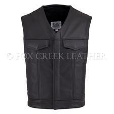 V-Neck Leather Rebel Vest