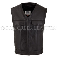 V-Neck Leather Rebel Vest