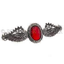 Angel Wing Ruby Barrette
