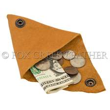Leather Triangle Coin Pouch