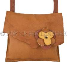 Elkskin Leather Flower Purse