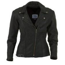 Womens Fitted Classic Motorcycle Jacket on Sale