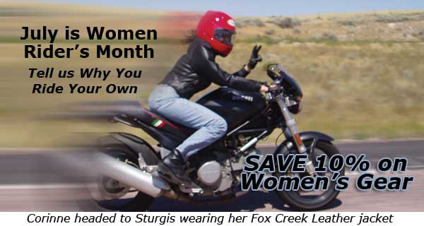 July: Women Rider's Month