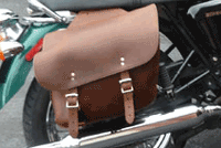 Leather Motorcycle Saddlebags on a 2010 Triumph Bonneville